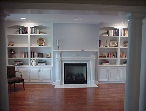 custom wall units traditional living room  york