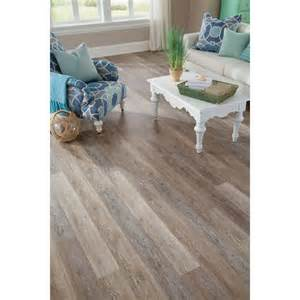 shop stainmaster 10 5 74 in x 47 74 in washed oak dove gray floating rustic luxury vinyl