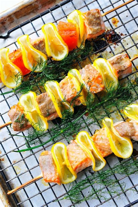bbq recipe ideas grilled citrus dill and salmon kabobs best healthy bbq seafood recipe ideas holicoffee