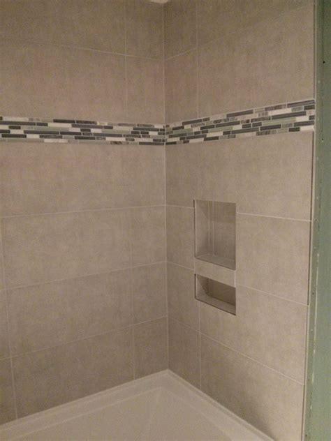 porcelain tile shower  cubby good morning flooring