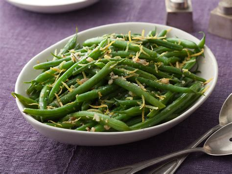 thanksgiving green beans recipe green beans with lemon and garlic recipe patrick and gina neely food network