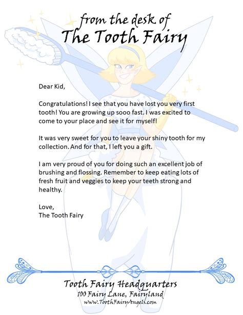 tooth fairy angels letters tooth fairy angels