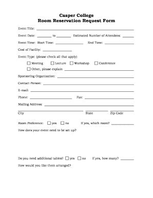 editable room reservation request form template fill print electronic documents in