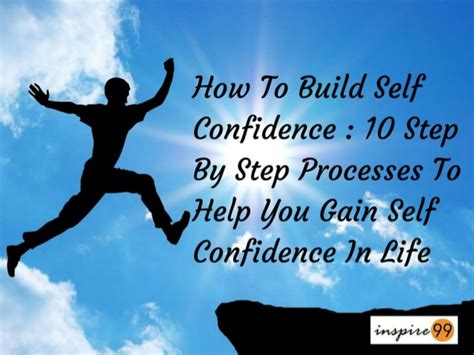 How To Build Self Confidence 10 Step