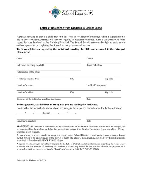proof of address letter 2018 proof of residency letter fillable printable pdf
