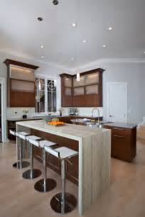 kitchen islands atlanta design trend marble granite waterfall countertops