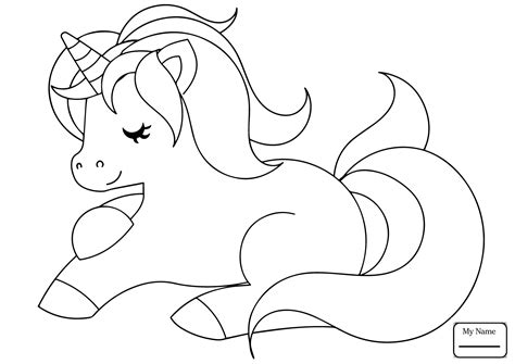 Best Of Cute Cartoon Unicorn Coloring Pages Design