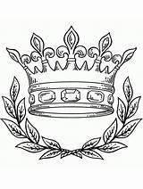 Crown Coloring King Printable Drawing Tattoo Queen Gaddynippercrayons Wearing Corona Crowns Simple sketch template