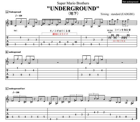 Descargar mario underground theme tab