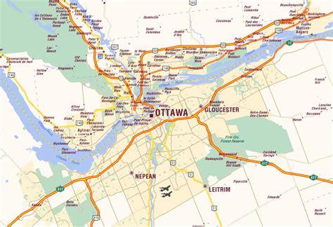 ottawa map  ottawa satellite image