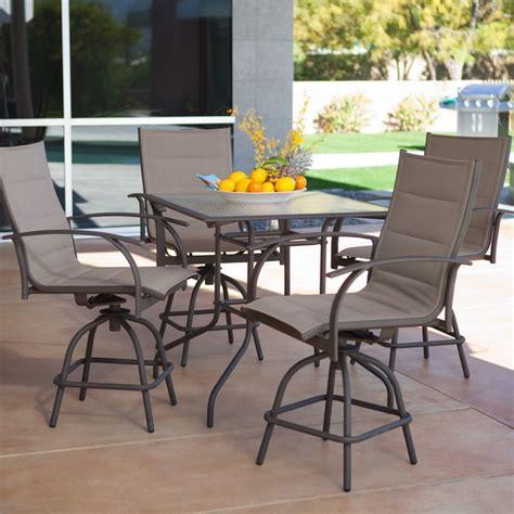 outdoor bar height furniture sets fashion ideas