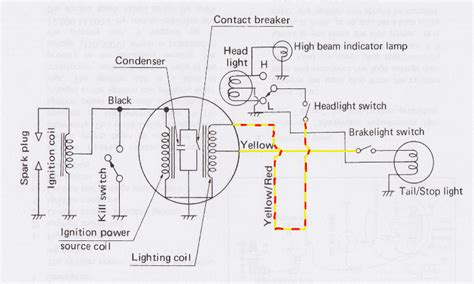 Yamaha Dt3 250 Wiring Diagram by Yamaha Ty 250 Electricit 233
