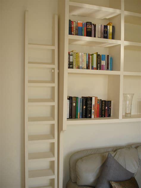 vintage joinery bespoke oak bookcase ladder
