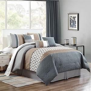 Emer, King, Comforter, Set, In, Grey, Taupe