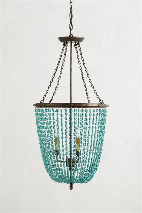 turquoise chandeliers turquoise beaded rivulets chandelier