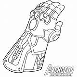 Coloring Thanos Gauntlet Infinity Template Popular sketch template