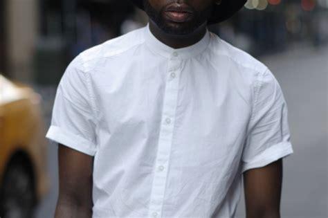 no shirt no blouse style tip collarless shirts the gentlemanual