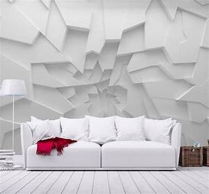 3D wallpaper designs for walls with LED and fluorescent ...
