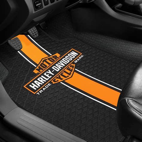 floor mats with logo plasticolor 174 floor mats with harley davidson logo