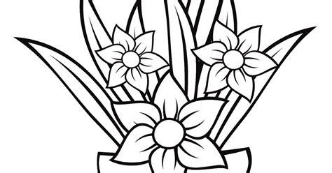 20 ide gambar pot bunga kartun hitam putih