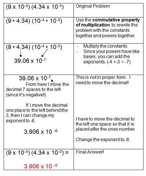 scientific notation multiplication worksheet geersc