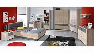 Bett 140x200 Sonoma Eiche : bett yook jugendzimmerbett sonoma eiche grau anthrazit 140 ~ Indierocktalk.com Haus und Dekorationen