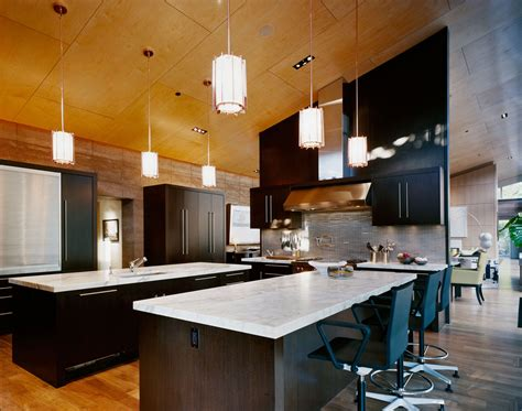 kitchen breakfast island imposing contemporary home in aspen colorado