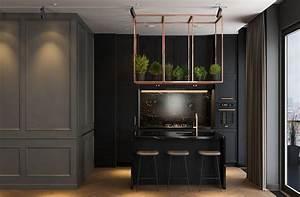 Dark, Interior, A, Modern, Lifestyle