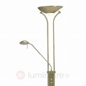 Lampe Variateur De Lumiere : lampadaire avec liseuse led lampe de salon sur pied pas ~ Dailycaller-alerts.com Idées de Décoration