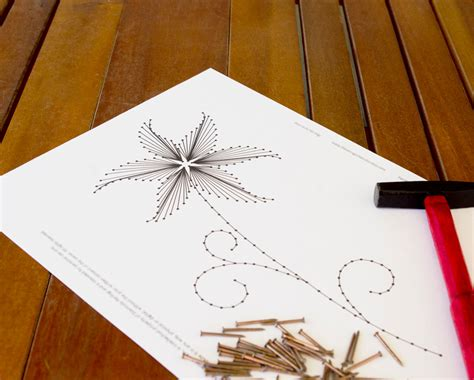 String Art Pattern The Lily Flower String Art