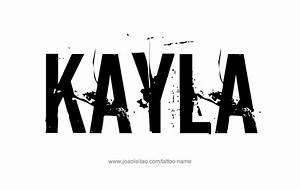 Kayla Name Tattoo Designs