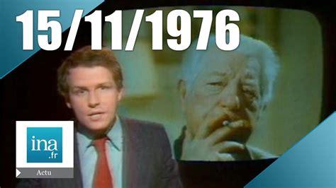 jean gabin mort 20h antenne 2 du 15 novembre 1976 jean gabin est mort