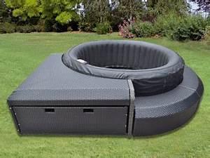 Bain De Soleil Rond : meuble sunwave sunshine avec bain de soleil pour spa gonflable rond 180 250cm sur ~ Teatrodelosmanantiales.com Idées de Décoration