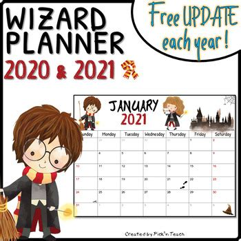 printable wizard planners     update