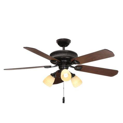 chronicle 54 ceiling fan hton bay metro 54 in indoor outdoor rustic copper