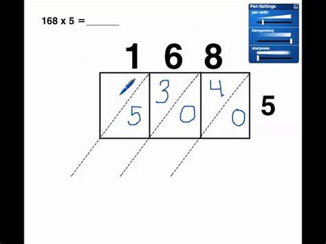 lattice multiplication  digit   digitno regrouping
