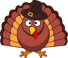 turkey with brown hat vector clip