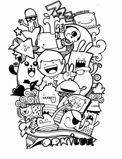 Doodle Doodles Graffiti Drawings Drawing Easy Cartoon