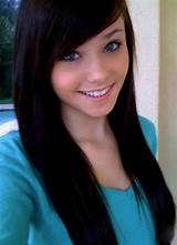 Beautiful black hair teen