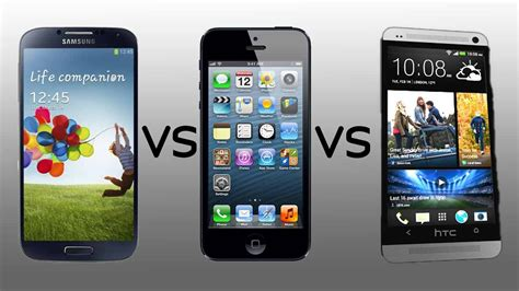 galaxy s5 vs iphone 5s samsung galaxy s5 vs apple iphone 5s vs htc one m8 load