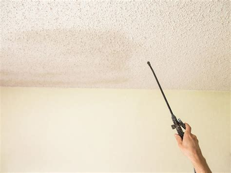 scraping popcorn ceilings without water how to remove a popcorn ceiling how tos diy