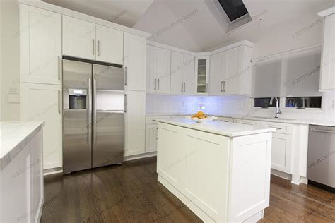 New Jersey Kitchen Cabinets by Ice White Shaker Luxcraft Cabinets