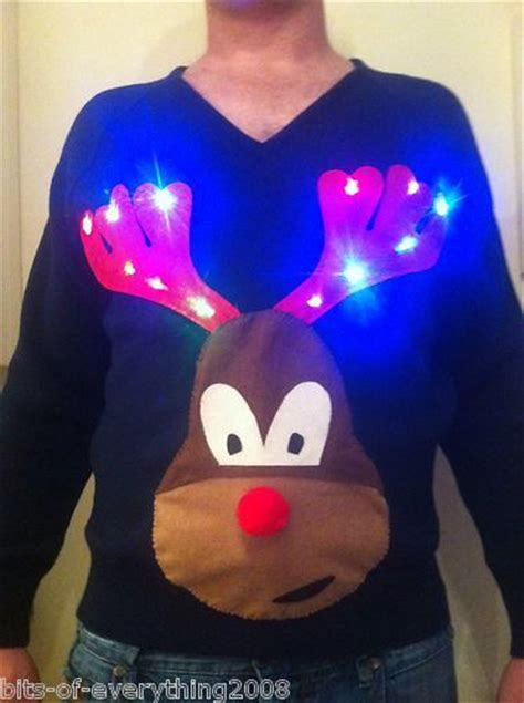 mens novelty light up rude randy reindeer