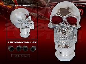 Chrome Skull Manual Shift Knob For Focus Fusion Mustang