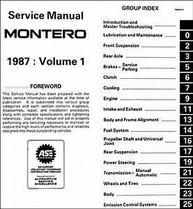 1987 Mitsubishi Montero Repair Shop Manual Set Original