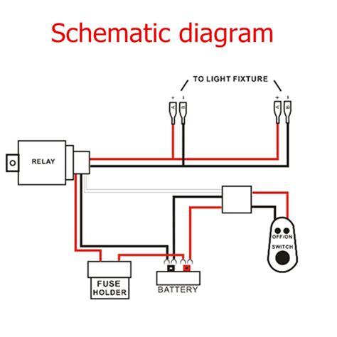 other lighting accessories 12v 40a led work fog light l bar wiring harness kit on