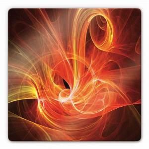 Tableau En Verre : tableau en verre rayon tourbillon rouge ~ Melissatoandfro.com Idées de Décoration