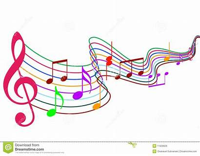 Notes Note Musique Couleur Clipart Musica Anmerkungen