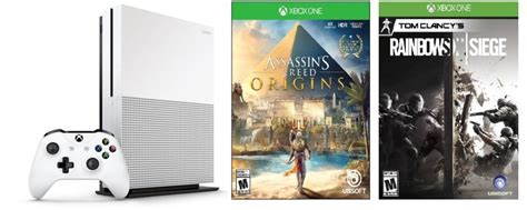 siege clarins microsoft xbox one s 1tb console with assassin s creed