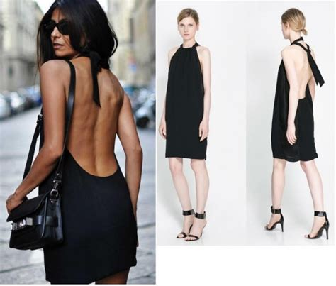 zara czarna sukienka odkryte plecy wstawki l w suknie i